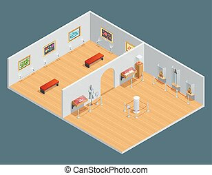 Isometric Interior Illustration
