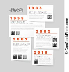 Vector Infographic typography timeline report template -...