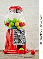 Gum Ball Machine - A studio photo of a vintage gum ball...