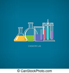Chemical Laboratory Equipment - Flasks Beakers and...