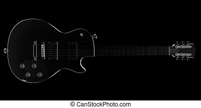 isolated transparent guitar image