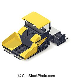 Asphalt paver detailed icon - Asphalt paver detailed...