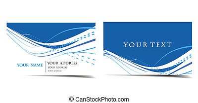 business card set - vector business card set, for more...