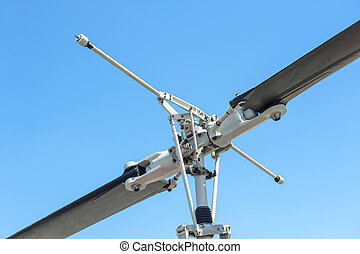 Close up of an helicopter