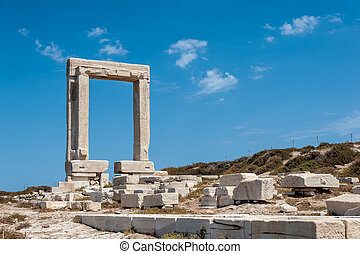 Portara of Naxos, famous landmark of greece