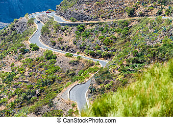 Winding moutain road.
