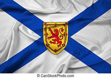 Waving Flag of Nova Scotia Province, Canada