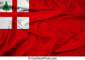 Waving Flag of New England, USA