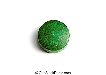 Green pill - One natural organic green Hawaiian Algae pill