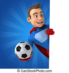 diversión, Superhero, -, 3D, Ilustración