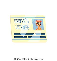 Trucker Driving License Truck Driver Job Related Item -...