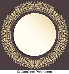 Nice Vector Greeting Card - Nice vector golden frame with...