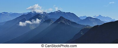 Mountain peaks in the Bernese Oberland - View from Mt...