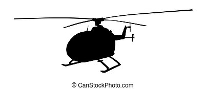 Helicopter isolated vector silhouette. Air transport symbol