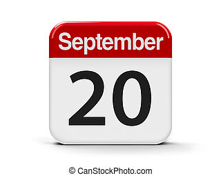 20th September - Calendar web button - The Twentieth of...
