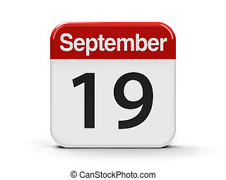 19th September - Calendar web button - The Nineteenth of...