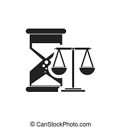 hourglass with finance icon vector illustration design