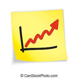 """Yellow sticky note \""""chart\"""""""