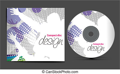 cd cover design - vector cd cover design template with copy...
