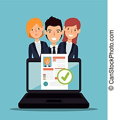 laptop curriculum recruitment design vector illustration eps...
