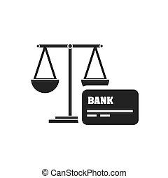 scale balance with finance icon vector illustration design