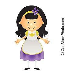 girl black hair