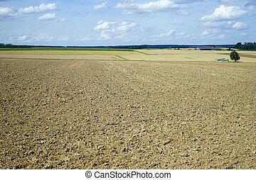 Plowed farm land in Germany