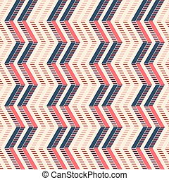 Seamless pattern of vertical zigzag with stylish striped...