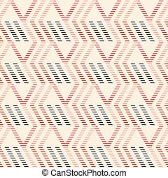 Seamless pattern of vertical zigzag and parallelogram shapes...