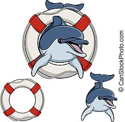 Vector illustration of a dolphin.