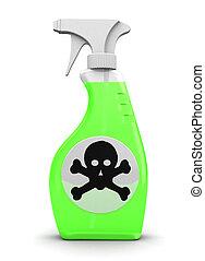 poison spray - 3d illustration of poison spray bottle over...