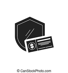 shield with finance icon vector illustration design