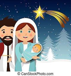 silhouette manger merry christmas design design vector...