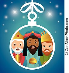three wise kings manger design design vector illustration...