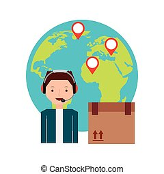 world wide flat icons