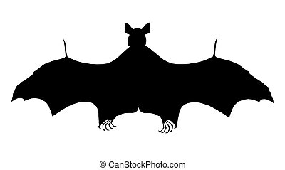 Silhouette of a bat - Computer generated 2D illustration...