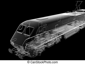 isolated transparent train image