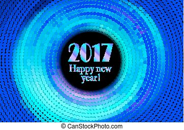 Happy new year 2017 halftone banner - happy new year 2017...
