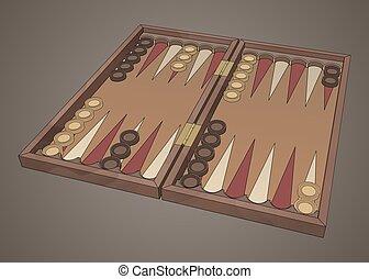 backgammon wooden tavli board game - Wooden backgammon board...