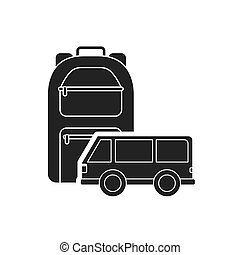 travel bag with camping icon