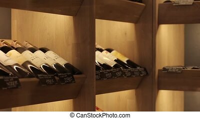Room for storing wine - Beautifully folded wine is kept in...