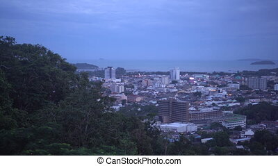 Viewpoint of Phuket from Range Hill, Thailand - Viewpoint of...