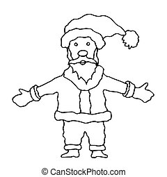 Cartoon Santa Clause for Christmas greeting Cards and...
