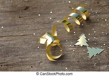 glitter, ribbon and confetti