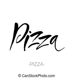 pizza lettering template