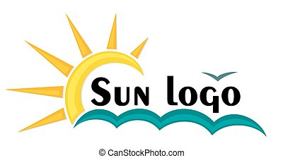 Logo sun and sea. - A logo of dawn the sun in the sea.