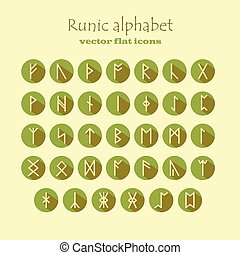 Set of Old Norse Scandinavian runes