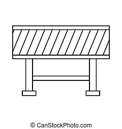 Traffic barrier icon in outline style - icon in outline...