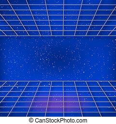 retro background Sci-Fi - Retro background Sci-Fi, Vector...