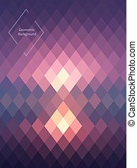 Geometric abstrackt background - Purple, pink geometric...